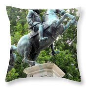 Leopold Statue Throw Pillow