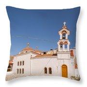Lerapetra Church Square Pano Throw Pillow
