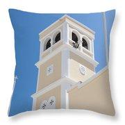 Lerapetra Church Steeple Throw Pillow