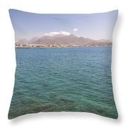Lerapetra From Across The Bay Throw Pillow