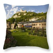 Les Andelys France Throw Pillow
