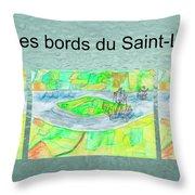 C'est Sur Les Bords Du Saint-laurent Mug Shot Throw Pillow