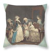 Les Bouquets, Ou La Fete De La Grand'maman Throw Pillow
