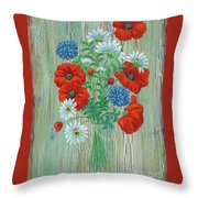 Les Coquelicots Throw Pillow