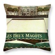 Les Deux Magots - #1 Throw Pillow