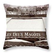 Les Deux Magots - #2 Throw Pillow