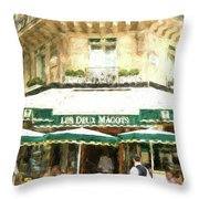 Les Deux Magots - Impressionistic Throw Pillow