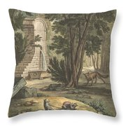 Les Deux Rats, Le Renard Et L'oeuf (two Rats,the Fox, And The Egg) Throw Pillow