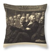 Les Fauteuils D'orchestre Throw Pillow