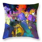 Les Filles Du Cafe De La Nuit Throw Pillow