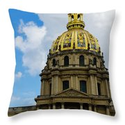 Les Invalides Throw Pillow