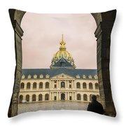 Les Invalides Paris Throw Pillow