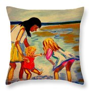 Les Mares Throw Pillow