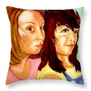 Les Meilleures Amies   Hanna And Yasmine Throw Pillow