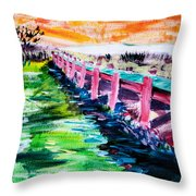 Les Orpellieres Throw Pillow