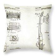 Les Paul Guitar Patent 1955 Throw Pillow