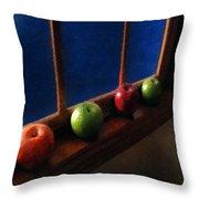 Les Pommes De La Lune Throw Pillow
