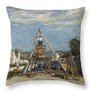 Les Scieurs De Long Throw Pillow