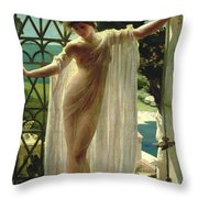 Lesbia Throw Pillow by John Reinhard Weguelin