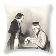 L'escompte D'un Billet Throw Pillow