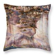 Leslie Gulch Cliff Vertical Throw Pillow