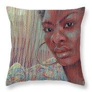 Leslie K Throw Pillow