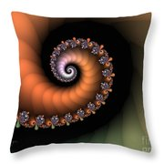 Less And Less Throw Pillow