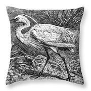 Lesser Egret Throw Pillow