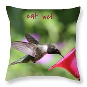 Lessons From Nature - Eat Well Throw Pillow