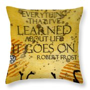 Lessons Learned Throw Pillow