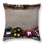 Lest We Forget War Memorial Martin Place Throw Pillow