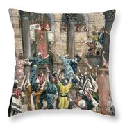 Let Him Be Crucified Throw Pillow