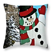 Let It Snow - Happy Holidays Throw Pillow