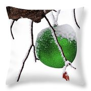 Let It Snow Christmas Ornament Throw Pillow