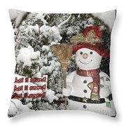 Let It Snow Let It Snow Let It Snow Throw Pillow