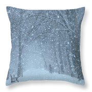 Let It Snow Throw Pillow by Lori Frisch