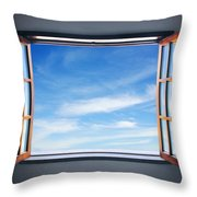 Let The Blue Sky In Throw Pillow by Carlos Caetano