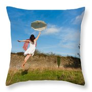 Let The Breeze Guide You Throw Pillow by Semmick Photo