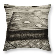 Let The Domino's Fall Throw Pillow