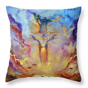 Let The  Earth Receive Her King  Throw Pillow