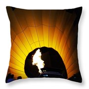 Let The Glowing Begin Throw Pillow