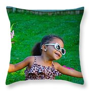 Let The Good Times Roll Throw Pillow
