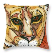 Let The Lioness Arise Throw Pillow