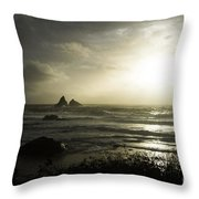 Let The Night Come Throw Pillow