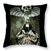 Let Them Eat Cake Throw Pillow by Delight Worthyn