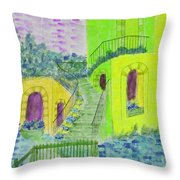 Let Them Eat Cake Multicolor Yellow Throw Pillow