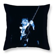 Let There Be Rock And Blues Throw Pillow