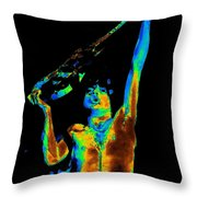Let There Be Rock Throw Pillow