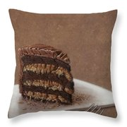 Let Us Eat Cake Throw Pillow by James W Johnson