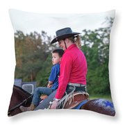 Let Your Babies Grow Up To Be Cowboys Throw Pillow